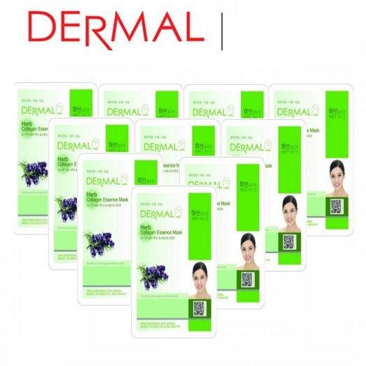 Mặt Nạ Dermal Tinh Chất Thảo Mộc Ngăn Ngừa Lão Hóa Da Herb Collagen Essence Mask 23g - 10 Miếng3