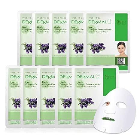 Mặt Nạ Dermal Tinh Chất Thảo Mộc Ngăn Ngừa Lão Hóa Da Herb Collagen Essence Mask 23g - 10 Miếng1