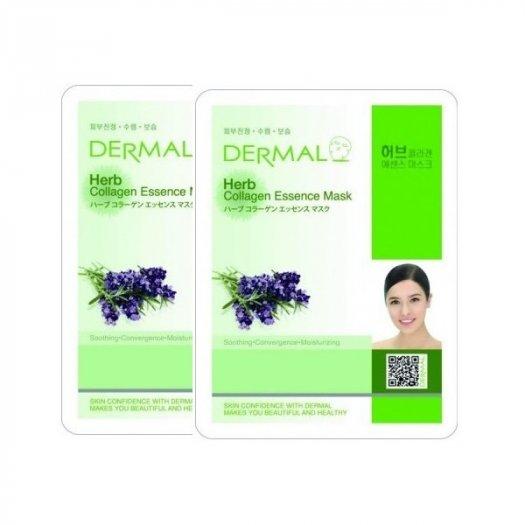 Mặt Nạ Dermal Tinh Chất Thảo Mộc Ngăn Ngừa Lão Hóa Da Herb Collagen Essence Mask 23g - 10 Miếng0