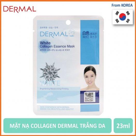 Mặt Nạ Dermal Tinh Chất Trắng Da White Collagen Essence Mask 23g - 10 Miếng0