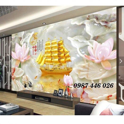 Gạch tranh dán tường đẹp 3d HP529016