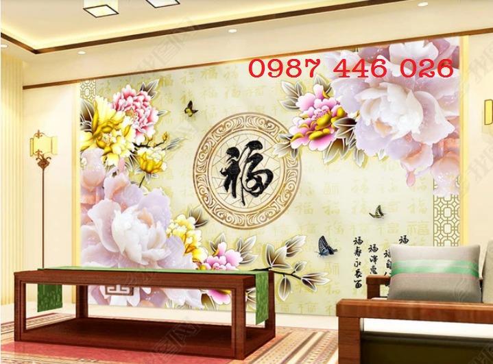 Gạch tranh dán tường đẹp 3d HP529011