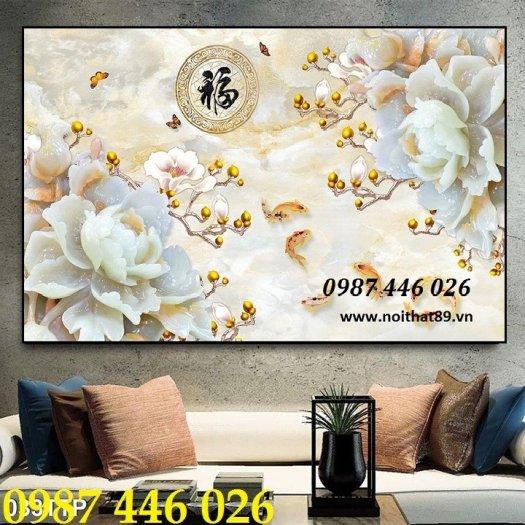 Gạch tranh dán tường đẹp 3d HP529010