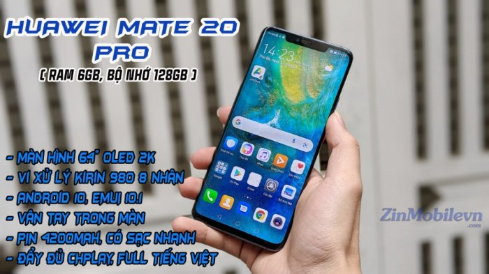 Điện thoại HUAWEI MATE 20 PRO 2 Sim Tại Zinmobile5