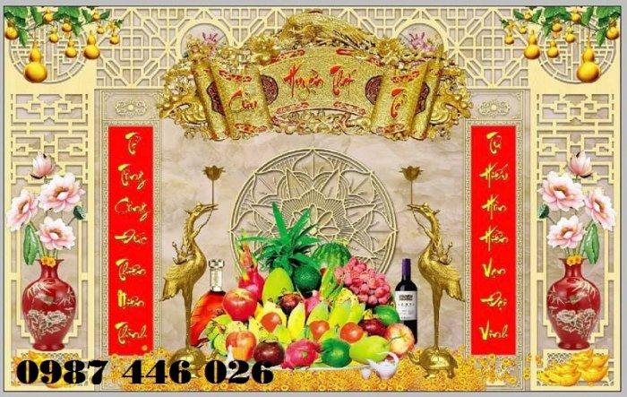 Gạch trang trí ban thờ đẹp HP51013