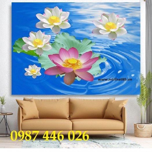 Gạch tranh hoa sen nghệ thuật HP62911
