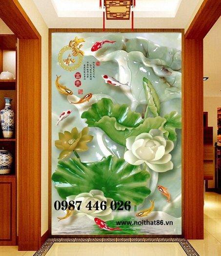 Gạch tranh hoa sen nghệ thuật HP6294
