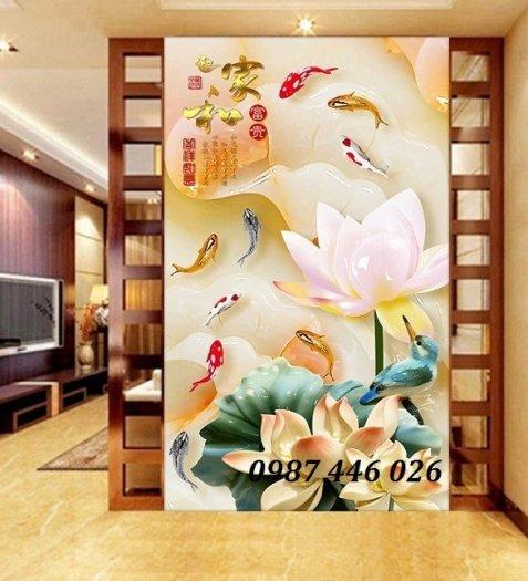 Gạch tranh hoa sen nghệ thuật HP6293