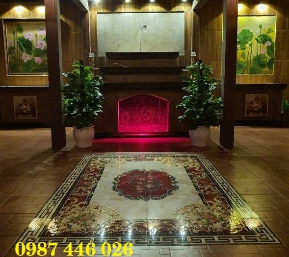 Gạch thảm sàn nhà sang trọng trang trí phòng khách HP529103