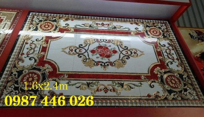 Gạch thảm sàn nhà sang trọng trang trí phòng khách HP529102