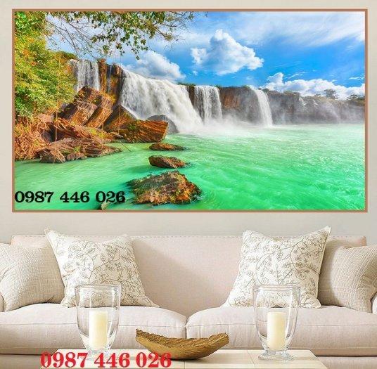 Gạch trang trí tranh tường phong cảnh 3d HP60184
