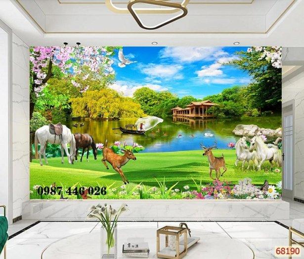 Gạch trang trí tranh tường phong cảnh 3d HP60183