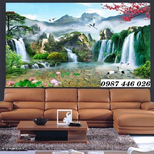 Gạch trang trí tranh tường phong cảnh 3d HP60181