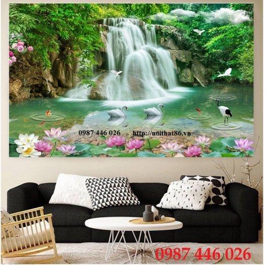 Gạch trang trí tranh tường phong cảnh 3d HP60180