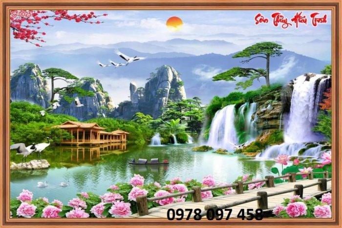 Tranh phong cảnh hữu tình - gạch tranh2