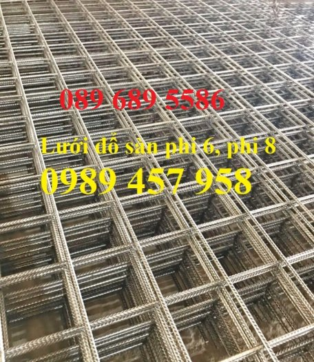 Tấm thép hàn đổ bê tông phi 4 a200x200, Lưới đổ sàn, đổ mái phi 6 a250x2505