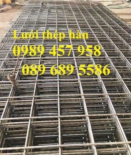 Tấm thép hàn đổ bê tông phi 4 a200x200, Lưới đổ sàn, đổ mái phi 6 a250x2503