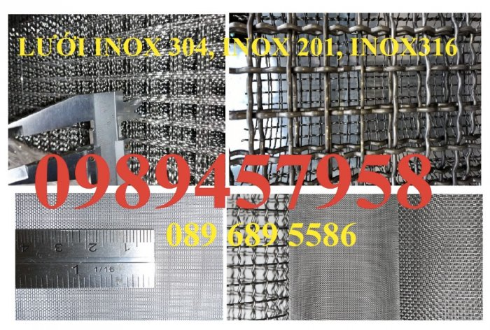 Lưới inox316 chống côn trùng, Lưới chống muỗi inox316, Lưới lọc inox3160