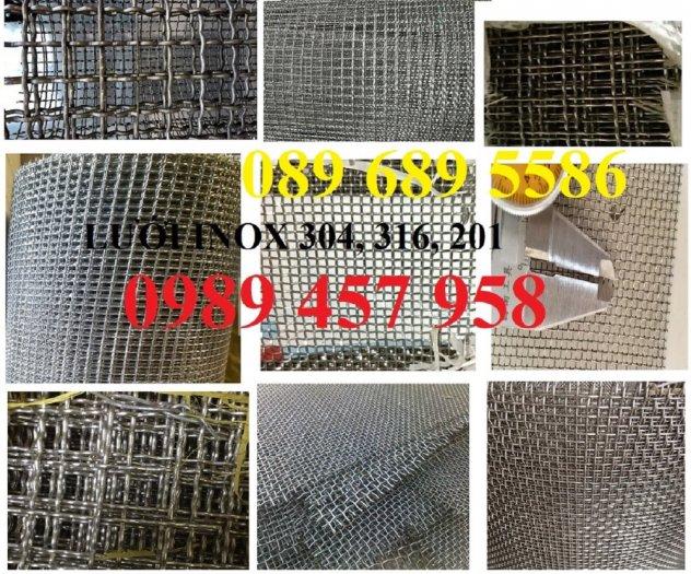 Lưới đan inox 304 dây 1ly, 1,2ly 1,5ly ô 15x15, 20x20, 30x30, 50x502