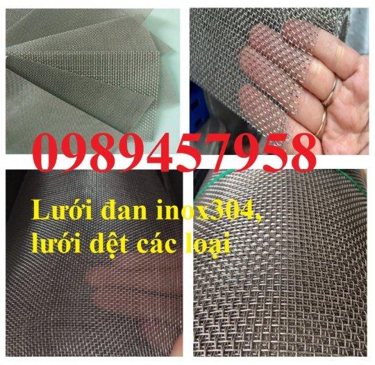 Lưới đan inox 304 dây 1ly, 1,2ly 1,5ly ô 15x15, 20x20, 30x30, 50x501