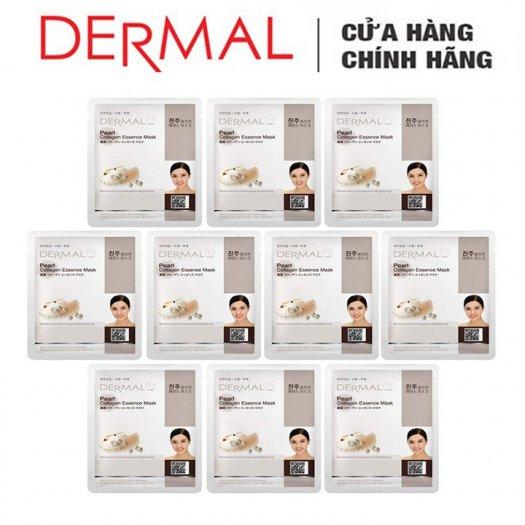 Mặt Nạ Dermal Tinh Chất Ngọc Trai Dưỡng Trắng Da Pearl Collagen Essence Mask 23g - 10 Miếng3