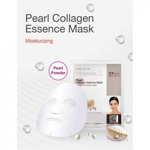 Mặt Nạ Dermal Tinh Chất Ngọc Trai Dưỡng Trắng Da Pearl Collagen Essence Mask 23g - 10 Miếng1