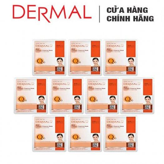 Mặt Nạ Dermal Tinh Chất Q10 Ngăn Ngừa Lão Hóa Da Q10 Collagen Essence Mask 23g - 10 Miếng3