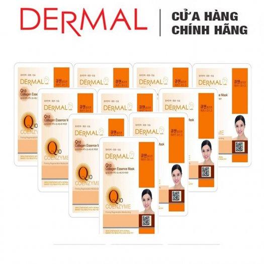 Mặt Nạ Dermal Tinh Chất Q10 Ngăn Ngừa Lão Hóa Da Q10 Collagen Essence Mask 23g - 10 Miếng2