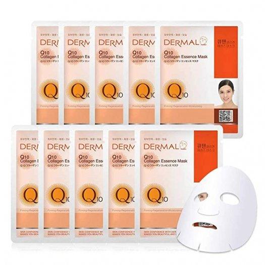Mặt Nạ Dermal Tinh Chất Q10 Ngăn Ngừa Lão Hóa Da Q10 Collagen Essence Mask 23g - 10 Miếng1
