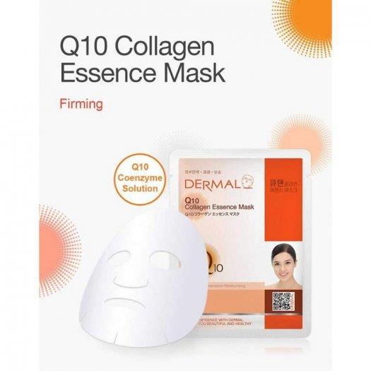 Mặt Nạ Dermal Tinh Chất Q10 Ngăn Ngừa Lão Hóa Da Q10 Collagen Essence Mask 23g - 10 Miếng0