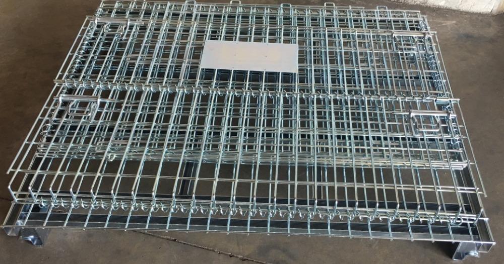 Pallet lưới xếp chồng, Lồng sắt đựng hàng, mesh pallet cages, wire mesh storage boxes5