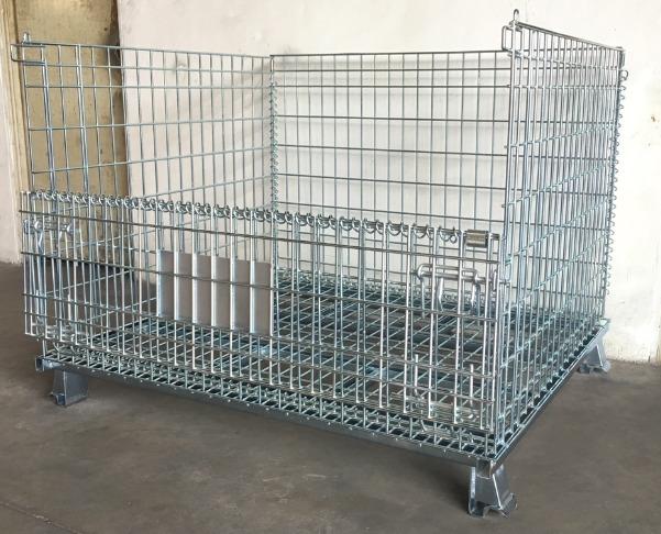 Pallet lưới xếp chồng, Lồng sắt đựng hàng, mesh pallet cages, wire mesh storage boxes4