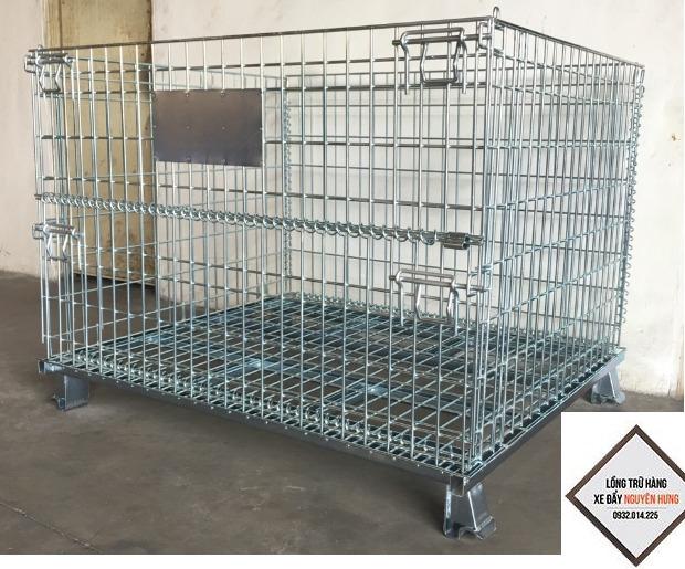 Pallet lưới xếp chồng, Lồng sắt đựng hàng, mesh pallet cages, wire mesh storage boxes3