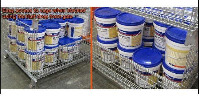 Pallet lưới xếp chồng, Lồng sắt đựng hàng, mesh pallet cages, wire mesh storage boxes2