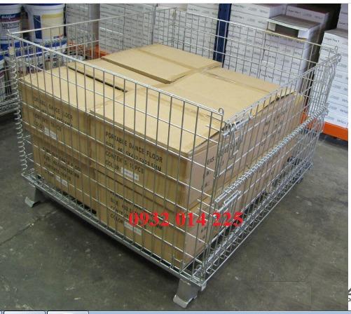 Pallet lưới xếp chồng, Lồng sắt đựng hàng, mesh pallet cages, wire mesh storage boxes1