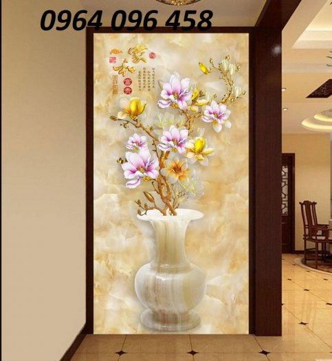 Gạch 3d tranh bình hoa giả ngọc - SNN6