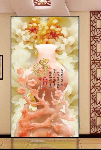Gạch 3d tranh bình hoa giả ngọc - SNN60