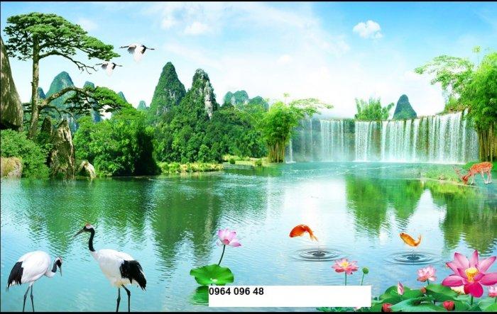 Tranh gạch men 3d phong cảnh đồng quê - KG557