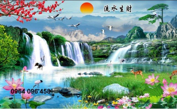 Tranh gạch men 3d phong cảnh đồng quê - KG556