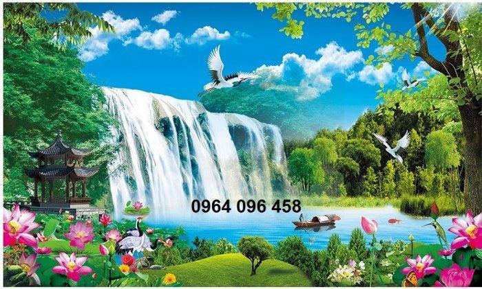 Tranh gạch men 3d phong cảnh đồng quê - KG555