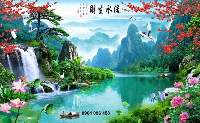 Tranh gạch men 3d phong cảnh đồng quê - KG553