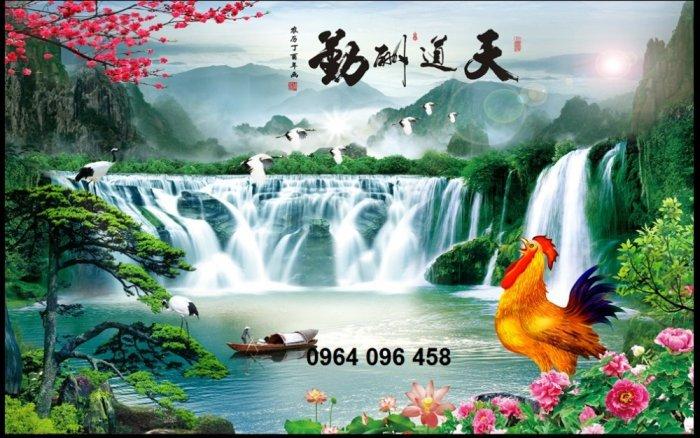 Tranh gạch men 3d phong cảnh đồng quê - KG551