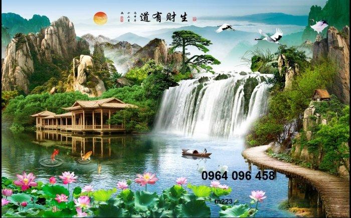 Tranh gạch men 3d phong cảnh đồng quê - KG550