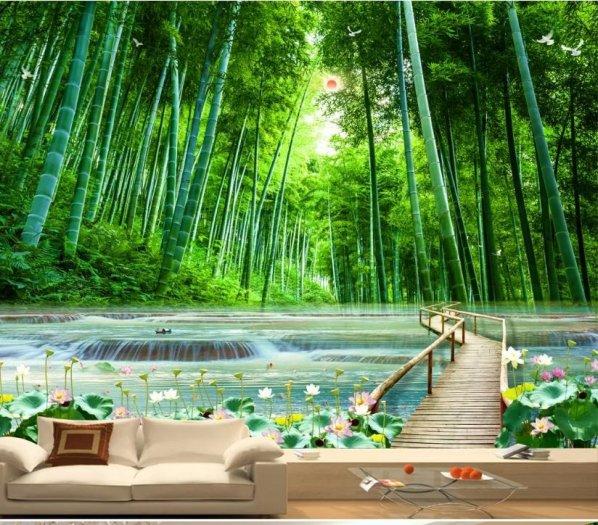 Tranh gạch men 3d rừng tre trúc - CN558