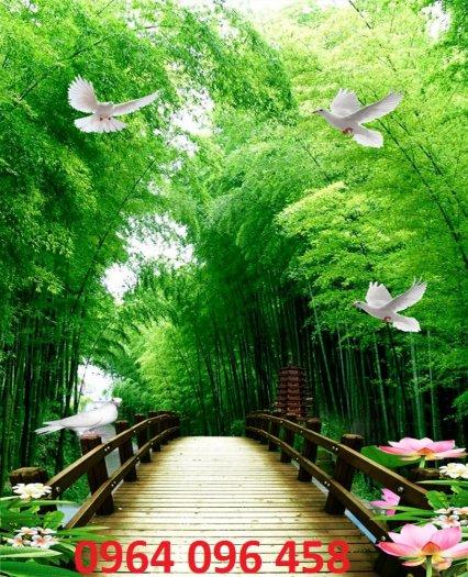Tranh gạch men 3d rừng tre trúc - CN555