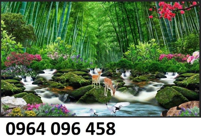Tranh gạch men 3d rừng tre trúc - CN554