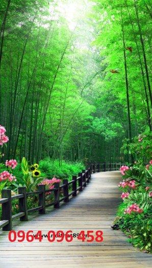 Tranh gạch men 3d rừng tre trúc - CN553
