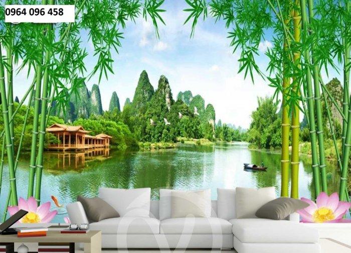 Tranh gạch men 3d rừng tre trúc - CN552