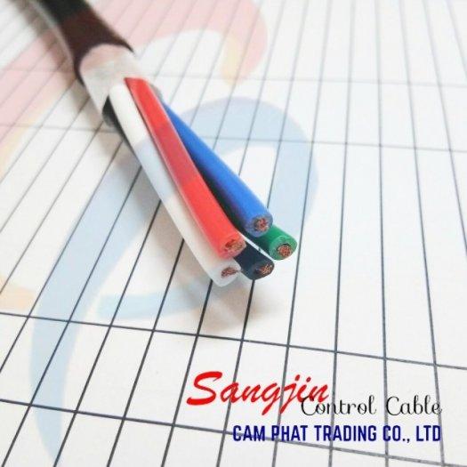 Cáp điều khiển Sangjin 6 x 1.25 SQMM có chống nhiễu4