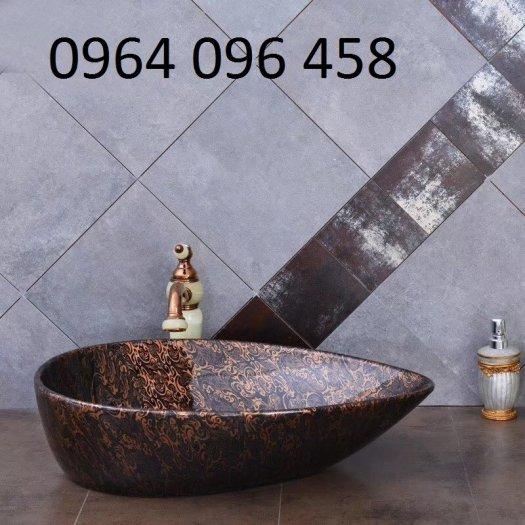 Chậu lavabo rửa mặt bàn đá - JD336